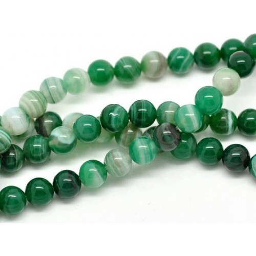 green striped agate round