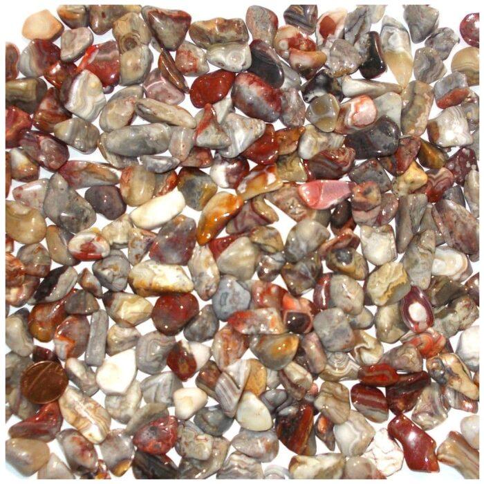 laguna lace agate tumbled stone