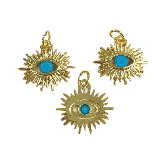 evil eye gold pated