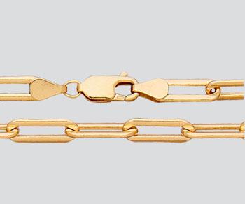 Paper Clip Chain Gold