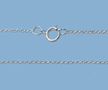 """16"""" cable sterling silver chain"""
